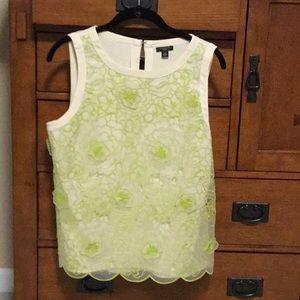 Ann Taylor flower appliqués detail blouse